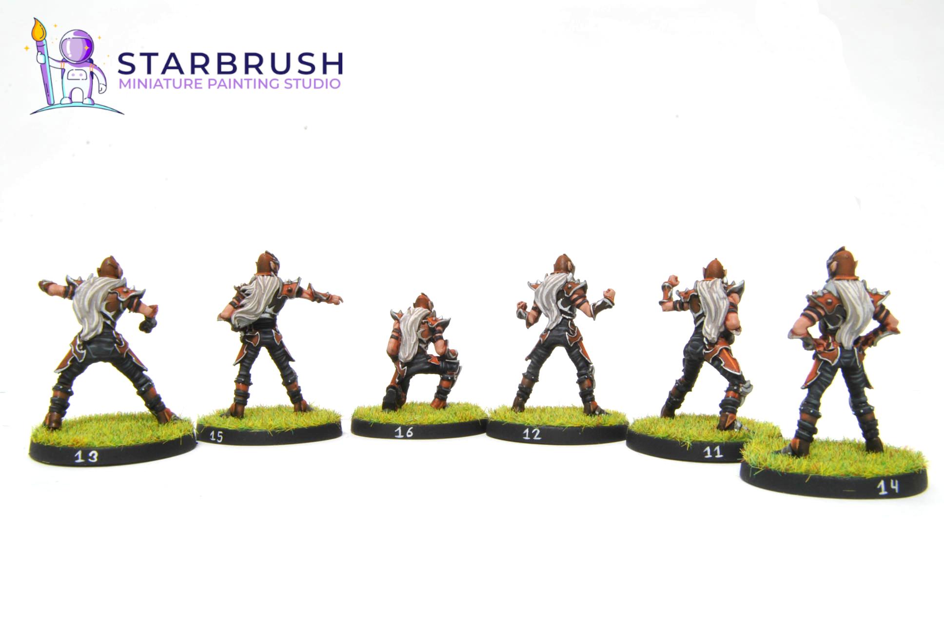 Equipo Obsidian Dust. Greebo Miniatures. Nivel 3